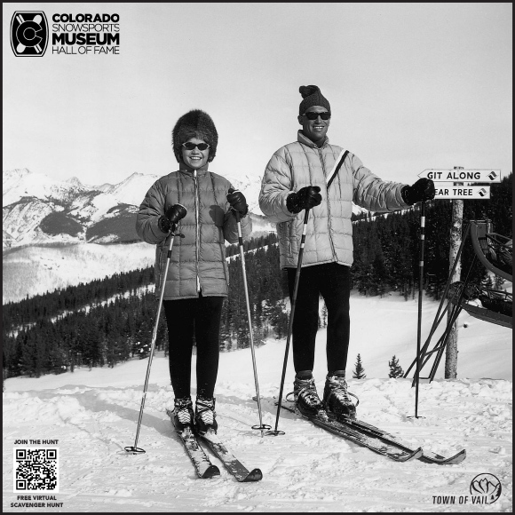 Ski Museum Scavenger Hunt Clue in Vail Village Winter